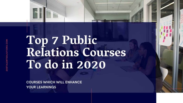 Top 7 Public Relations Courses To do in 2020