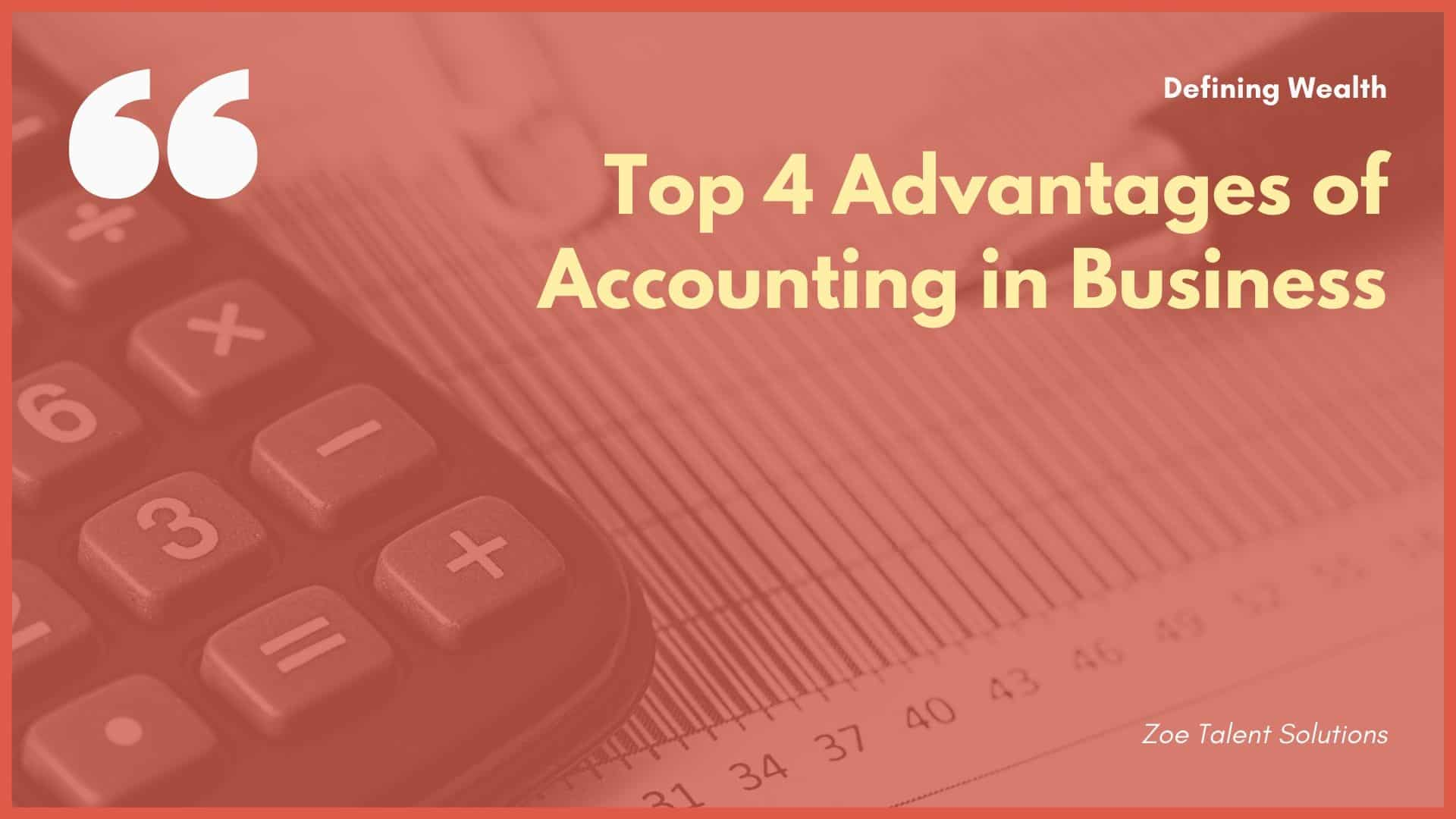 Advantages of Accounting