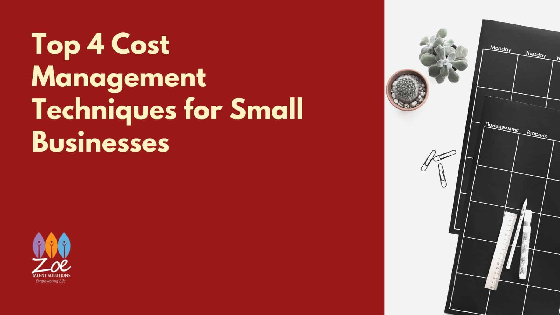 Cost Management Techniques