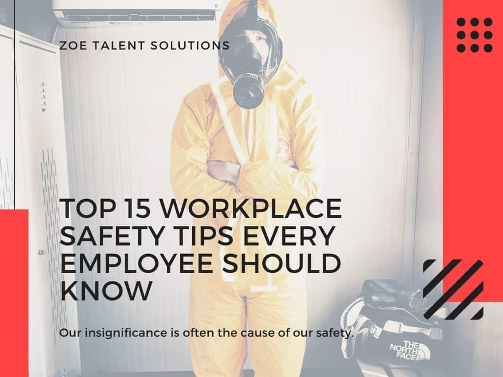 workplace safety tips for employees